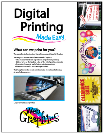 Logo Design And Magazine Ad For A Local Large Format Digital Printing Company